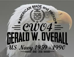 Memorial for CWO4 Gerald W. Overall USN Retired